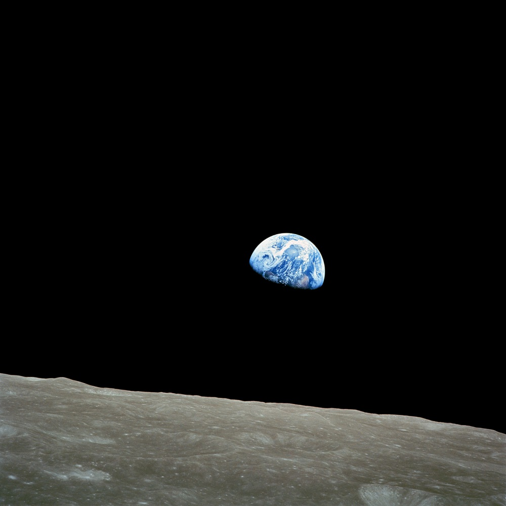"""Earthrise"" - Apollo 8, Dec. 24, 1968"